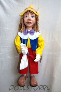 Кукла-марионетка Буратино - Pinocchio (Чехия, Praha, Hand Made, авторы  Ивета и Павел Новотные)