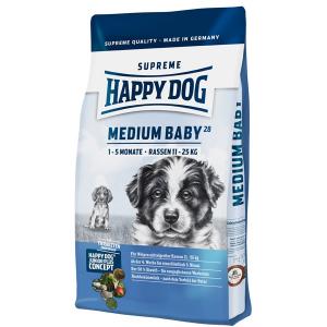 Корм сухой Happy Dog Medium Baby GR 28 для щенков средних пород с птицей 4кг