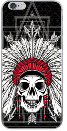 Силиконовый чехол для iPhone 6/6s (череп)
