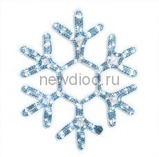 Снежинка из дюралайта 60см (белая)