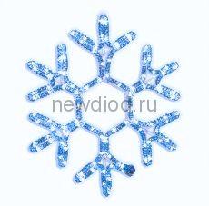 Снежинка из дюралайта 60см (синяя)