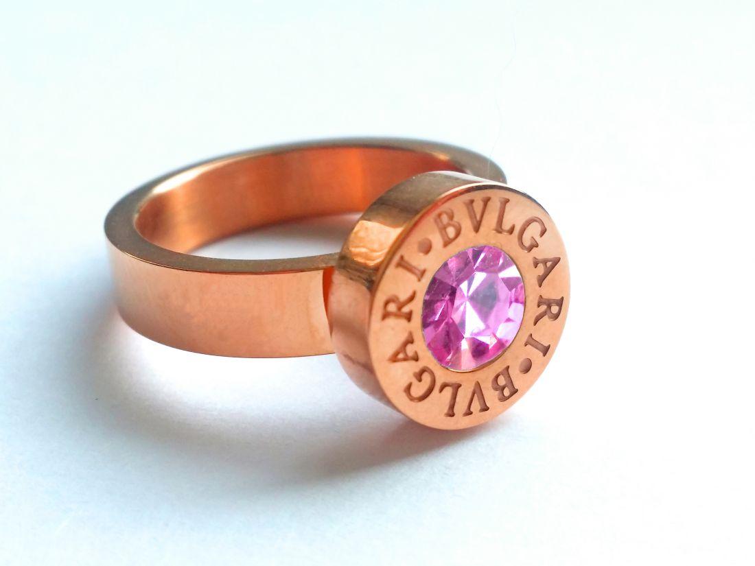 Bvlgari кольцо (розовое золото)