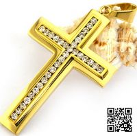 Нательный крест с цирконами