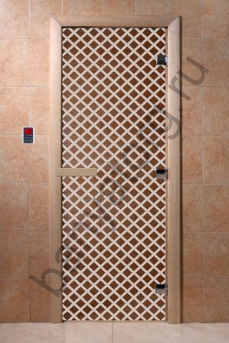 Дверь для бани DoorWood Мираж Бронза