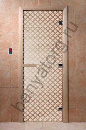 Дверь для бани DoorWood Мираж Сатин
