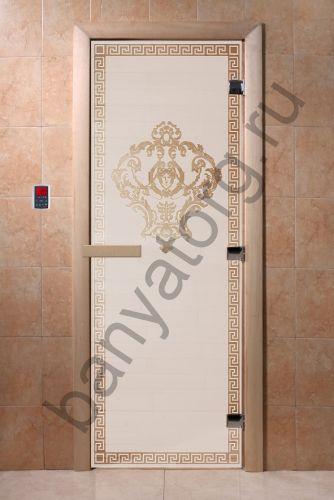 Дверь для бани DoorWood Версаче Сатин
