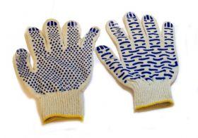 перчатки х/б 10кл 5 нитей ПРОФИ с ПВХ ВОЛНА 10/250