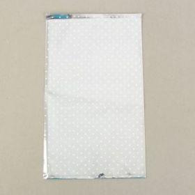 """Пакет подарочный """"Снежинка"""" 25 х 40 см, однотонный металлизированный рисунок"""