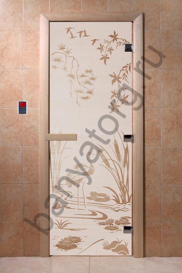 Дверь для бани DoorWood Камышовый Рай Сатин