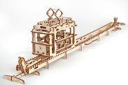 Конструктор 3D-пазл Ugears - Трамвай с рельсами