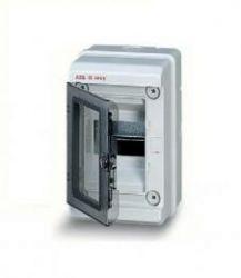 Бокс ABB EUROPA IP65 настенный 4М с прозрачной дверцей серый