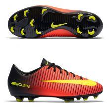 Детские бутсы Nike Mercurial Vapor XI FG оранжевые