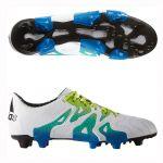 Бутсы adidas X 15.1 Leather FG/AG белые