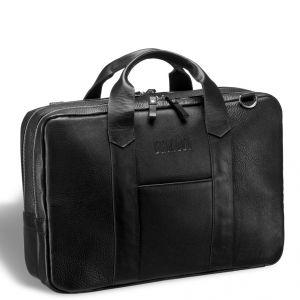 Деловая сумка с двумя автономными отделениями Brialdi Grand Atengo (Гранд Атенго) black