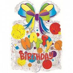 Подарок с днем рождения - шар фольгированный с гелием