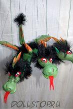 Кукла-марионетка Змей Горыныч - Drak (Чехия, Praha, Hand Made, авторы  Ивета и Павел Новотные)
