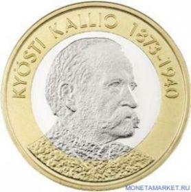 Кюёсти Каллио  (президент 1937-1940)  5 евро Финляндия 2016