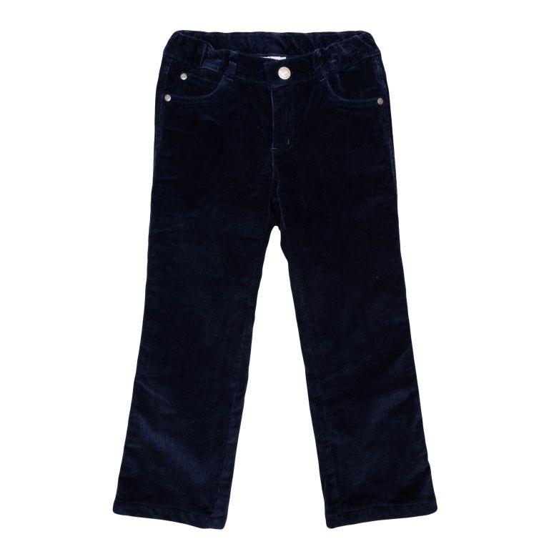 Теплые брюки для мальчика 4 лет темно-синего цвета