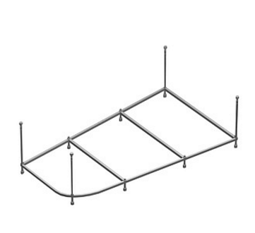 Каркас для ванны Alpen Triangl 180x120