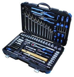 """Набор инструментов 1/4"""" и 1/2"""" 6 гр. Forsage 41241-5,124 предмета."""