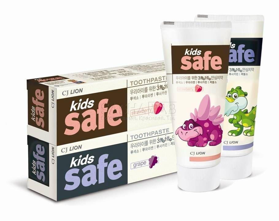 Корейская зубная паста детская от 3-х до 12 лет CJ Lion Kids Safe в ассортименте