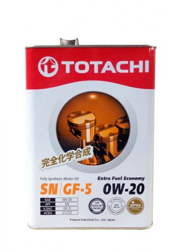 Моторное масло TOTACHI Extra Fuel Fully Synthetic SN SAE 0W-20 (4л)
