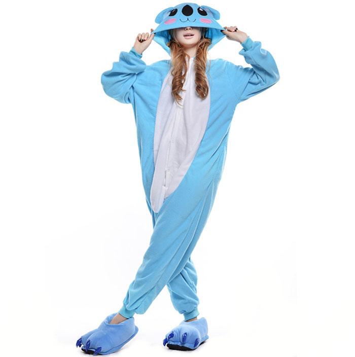 Пижама Кигуруми Коала Голубая Премиум