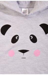 Лонгслив для девочки Панда