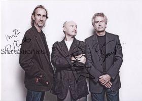 Автографы: группа Genesis. 3 подписи