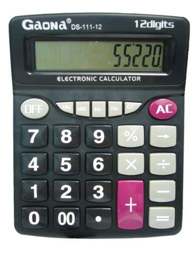 Калькулятор GAONA DS-111-12 (12 разр.) настольный