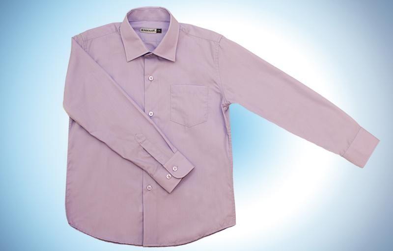 Рубашка для мальчика сиреневая