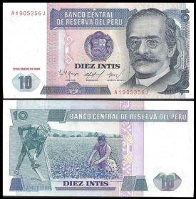 Перу - 10 Инти 1987 UNC