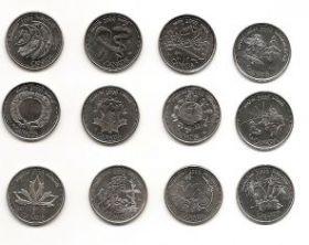 Миллениум  Набор монет 25 центов Канада 2000 (12 монет)