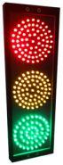 Светофор светодиодный трехсекционный (145мм)