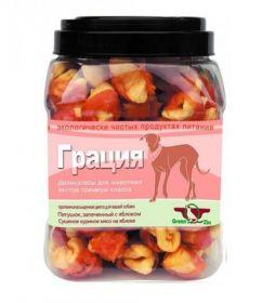 ГРИН КЬЮЗИН (GREEN QZIN) для собак «ГРАЦИЯ»(гусиное мясо+яблоко)