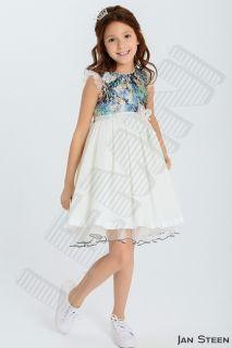 Платье Baby Steen айвори-синий