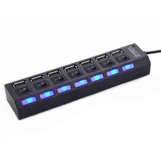 Концентратор USB (HUB)  на 8 гнезд JC-701