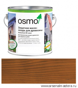 Защитное масло-лазурь для древесины Osmo Holzschutz Ol-Lasur 707 Орех 2,5 л