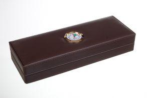 Хьюмидор Tom River дорожный на 3 сигары с увлажнителем, Экокожа