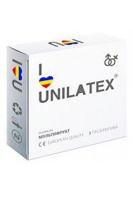 Презервативы Unilatex Multifruits цветные ароматизированные, 3 шт.