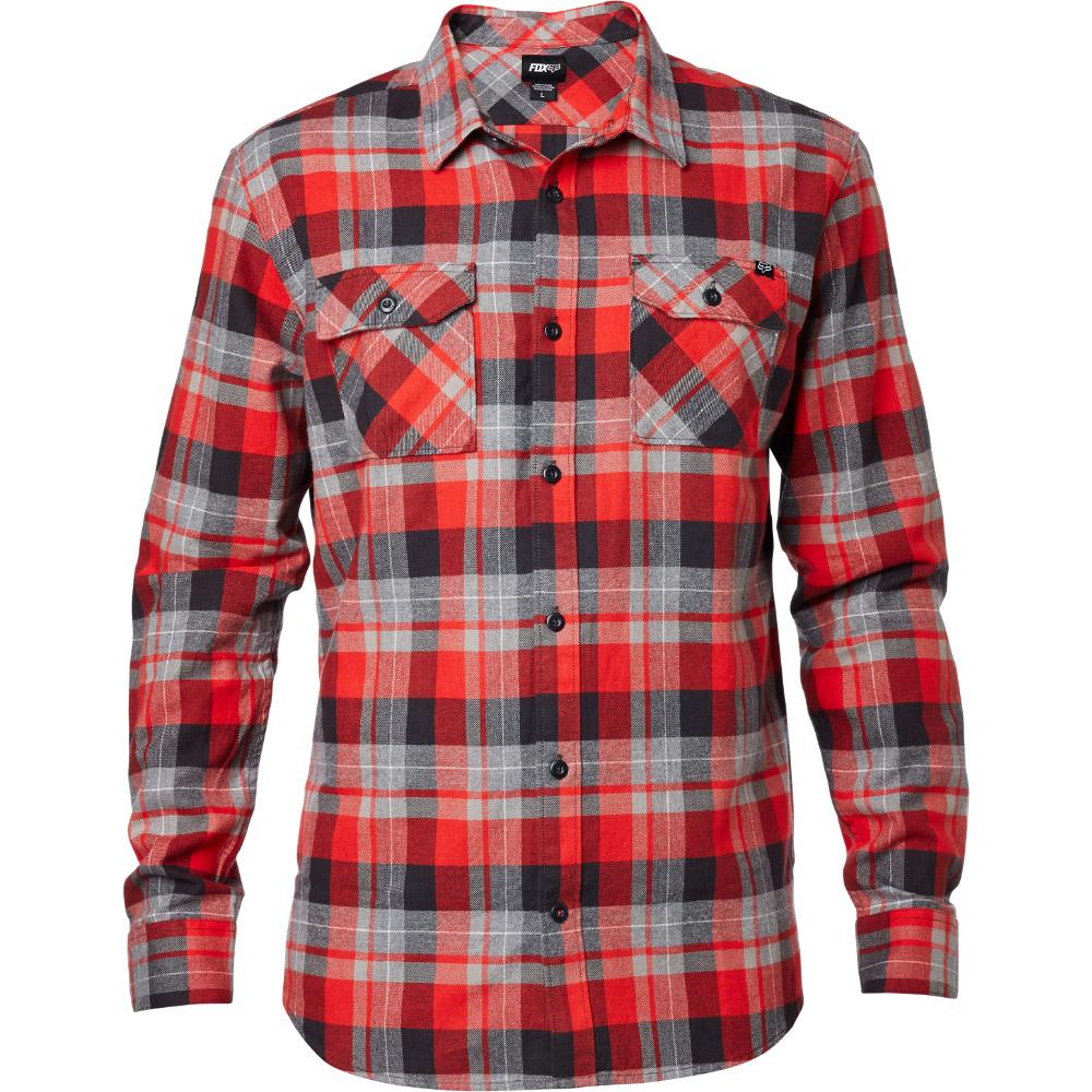 Fox - Traildust LS Flannel Flame рубашка, красная