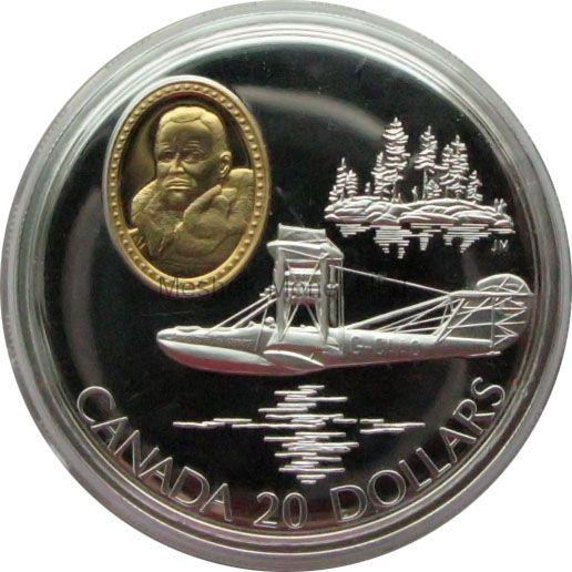 Канада 20 долларов 1994 г. Герои авиации Stewart Graham