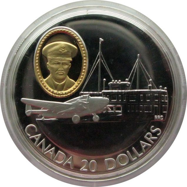 Канада 20 долларов 1993 г. Герои авиации Zebulon Lewis Leigh