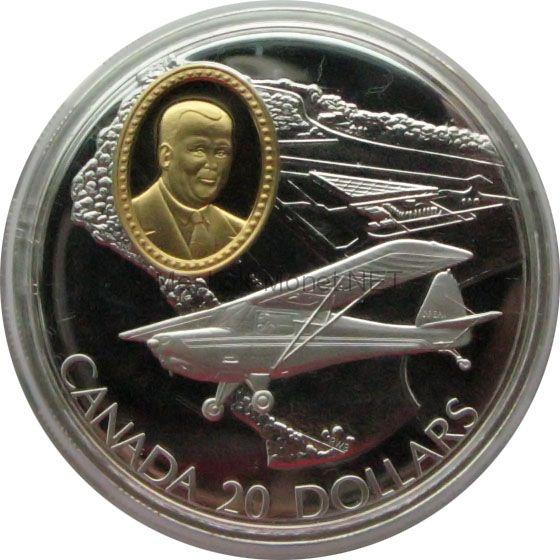 Канада 20 долларов 1995 г. Герои авиации. DHC-1 Chipmunk