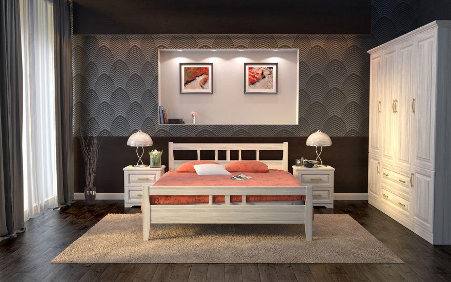 Кровать Лагуна (массив ясеня) | DreamLine