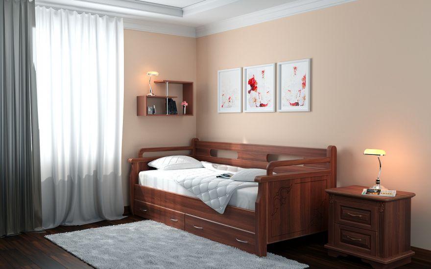 Кровать-тахта №2 (массив ясеня) | DreamLine