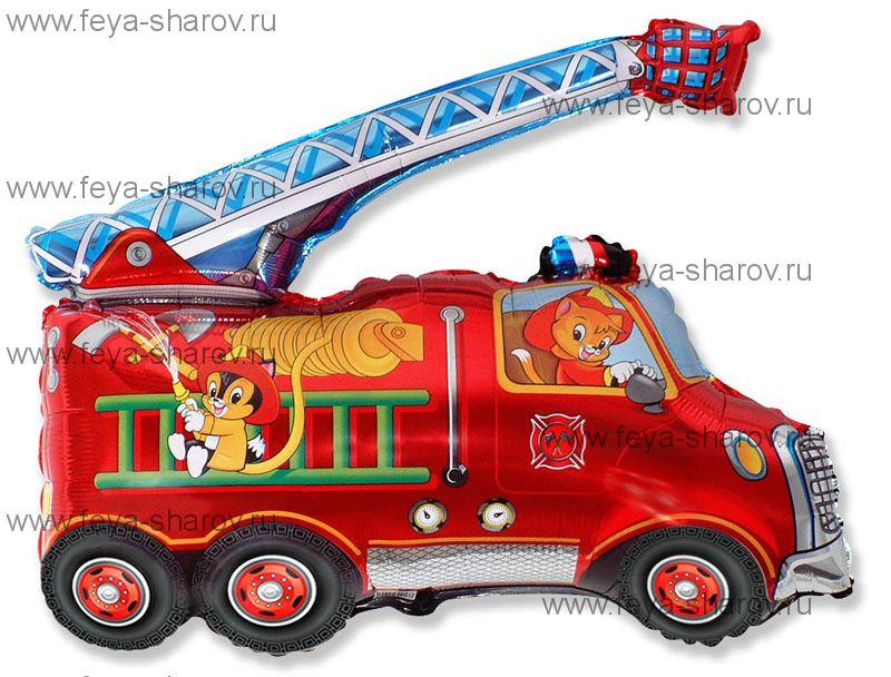 Шар Пожарная машина 81 см