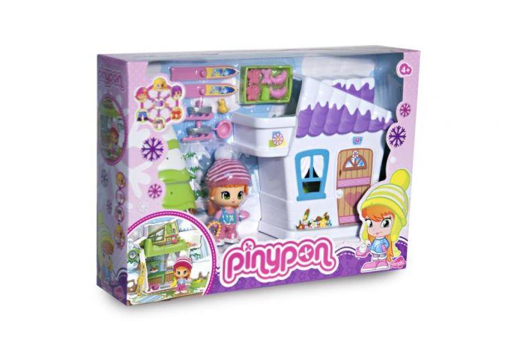 Игровой набор Зимний домик Пинипон