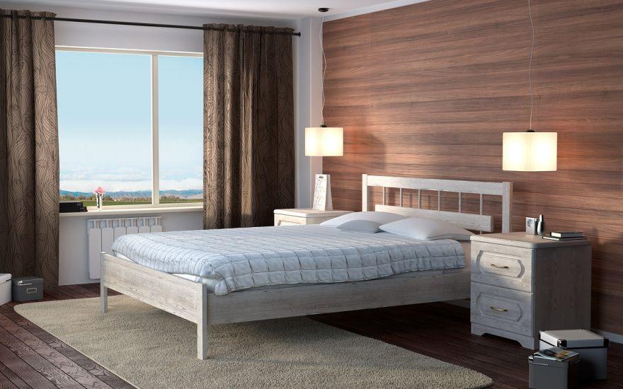 Кровать Троя 1 (массив ясеня)   DreamLine