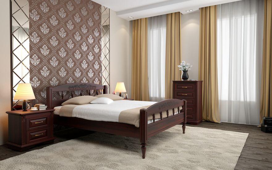 Кровать Флоренция 1 (массив ясеня)   DreamLine